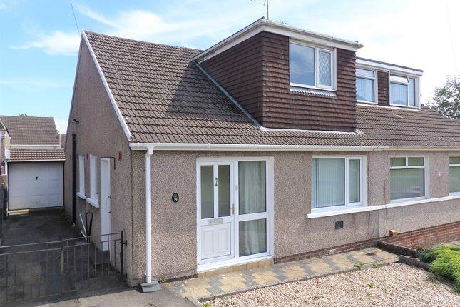 Thumbnail Semi-detached bungalow for sale in Milton Drive, Cefn Glas, Bridgend.