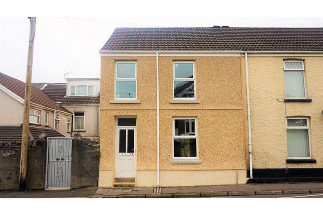 Thumbnail End terrace house for sale in Burrows Road, Skewen