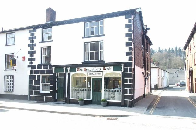 Thumbnail Terraced house for sale in The Travellers Rest, 9, Long Bridge Street, Llanidloes, Powys