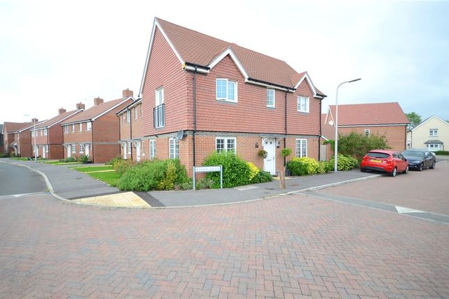 Thumbnail End terrace house for sale in Fawn Drive, Three Mile Cross, Reading