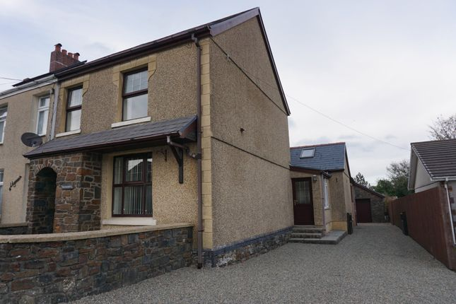 Thumbnail End terrace house for sale in Black Lion Road, Cross Hands, Llanelli