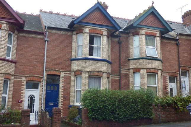 Thumbnail Terraced house to rent in Mount Pleasant Road, Exeter