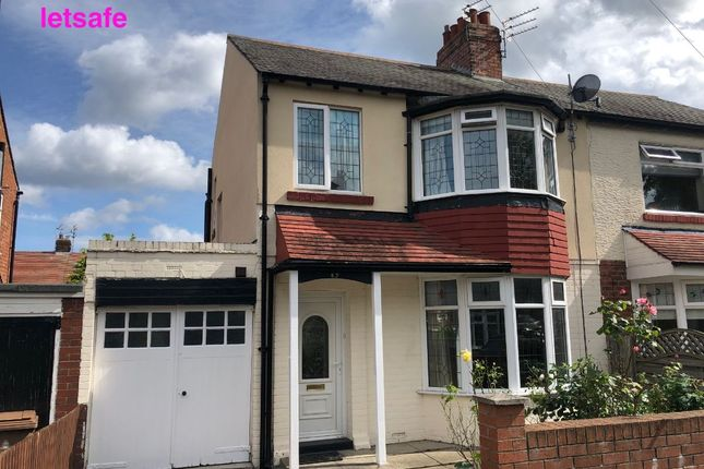 Thumbnail Semi-detached house to rent in Hillfield, Monkseaton, Whitley Bay.