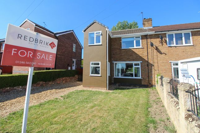 Thumbnail Semi-detached house for sale in Broomfield Avenue, Hasland, Chesterfield