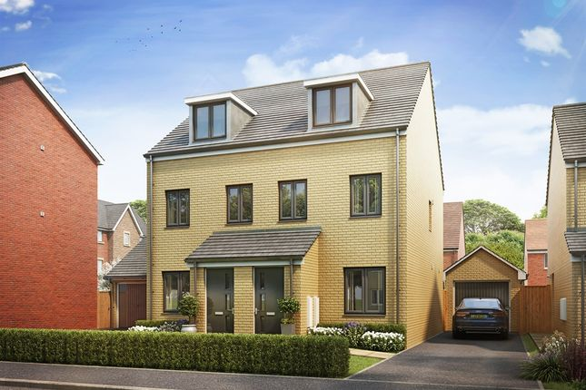 "Thumbnail Semi-detached house for sale in ""The Souter"" at Brickburn Close, Hampton Centre, Peterborough"