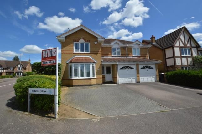 Thumbnail Detached house for sale in Aldwell Close, Wootton, Northampton, Northamptonshire