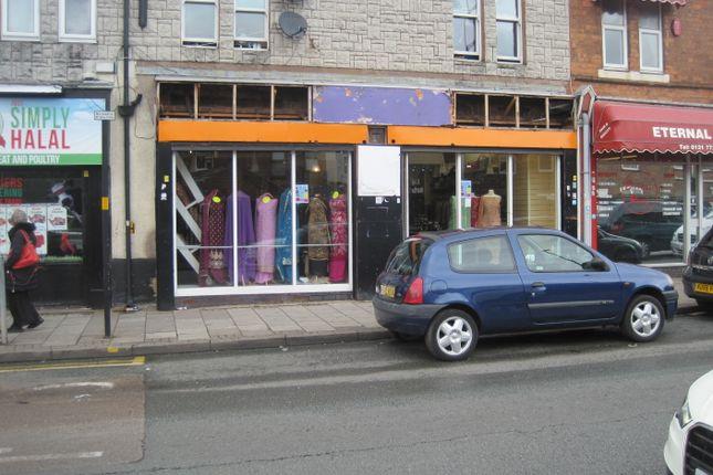 Retail premises to let in Green Lane, Green Lane, Birmingham.