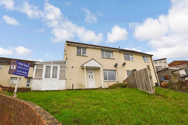 Thumbnail Semi-detached house for sale in Heol Gethin, Cefn Hengoed, Hengoed