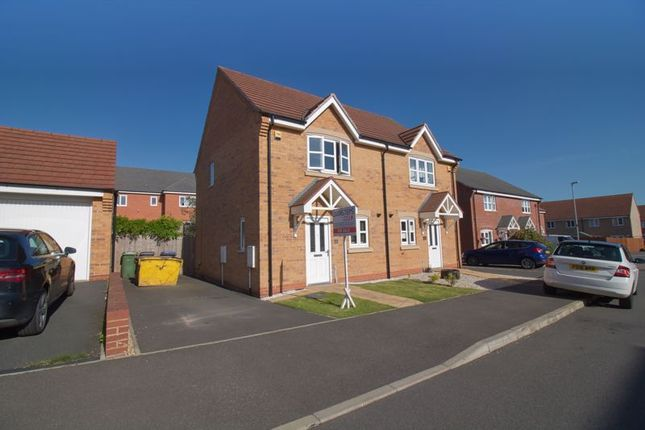 Thumbnail Semi-detached house for sale in Buckthorn Way, Great Glen, Leicester