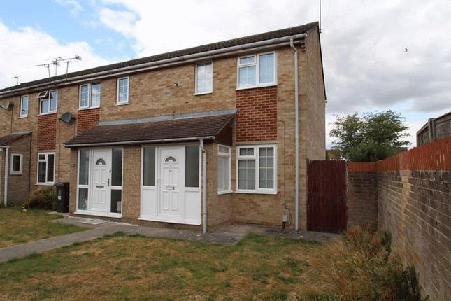 Thumbnail End terrace house to rent in Langport Close, Freshbrook, Swindon