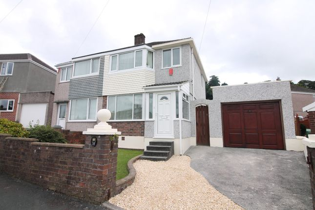 Thumbnail Semi-detached house for sale in Woodland Drive, Plympton, Plymouth