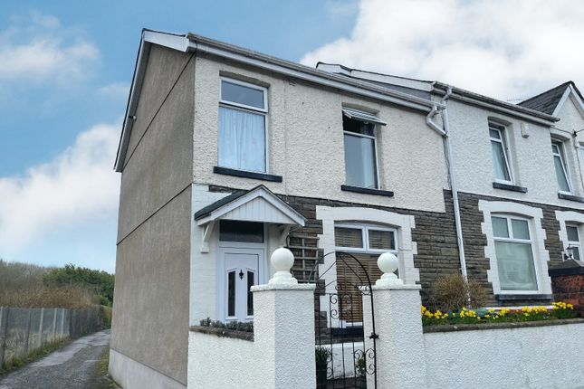Thumbnail End terrace house for sale in Llwyn On Street, Caerphilly