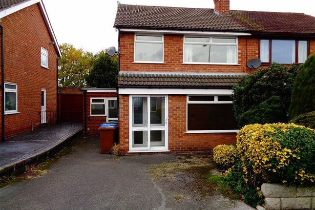 Thumbnail Semi-detached house to rent in Woodville Drive, Marple, Stockport