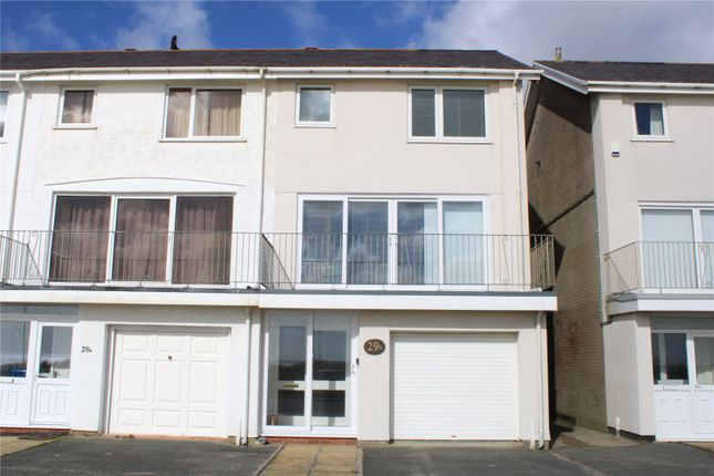 Thumbnail End terrace house for sale in Min Y Mor, Victoria Parade, Pwllheli