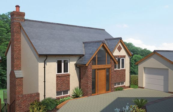 Thumbnail Detached house for sale in Howden, Tiverton