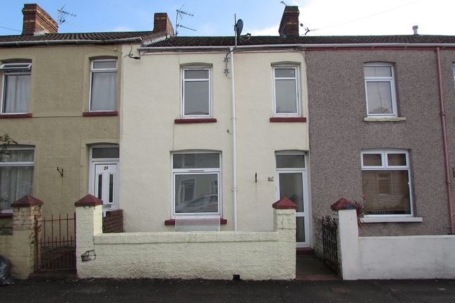 Thumbnail Terraced house to rent in Cemetery Road, Bridgend