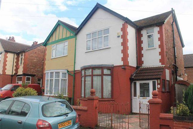 Thumbnail Semi-detached house for sale in Burnage Hall Road, Burnage, Greater Manchester