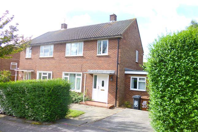 Thumbnail Semi-detached house to rent in Bradshaws, Hatfield, Herts