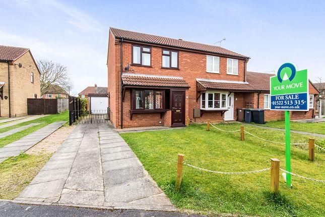 Thumbnail Semi-detached house for sale in Fernleigh Avenue, Bracebridge Heath, Lincoln