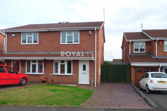 Thumbnail Semi-detached house to rent in Bordeaux Close, Milking Bank, Dudley