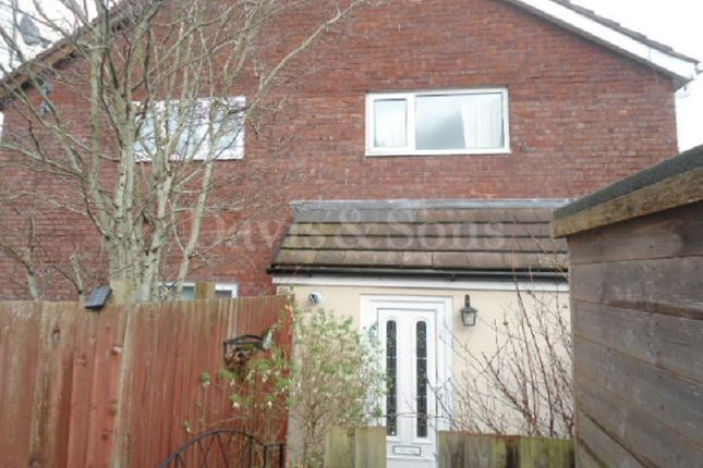 Thumbnail End terrace house for sale in Pentre Close, Coed Eva, Cwmbran, Torfaen.