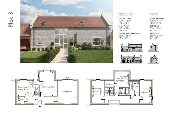Thumbnail Link-detached house for sale in Long Hazel Farm, Sparkford, Yeovil