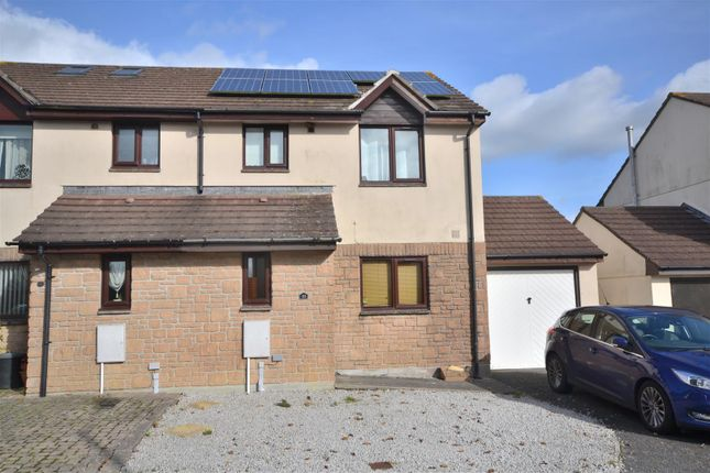 Thumbnail Semi-detached house for sale in Manaton Close, Helston