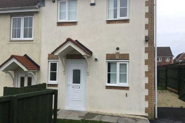 Thumbnail End terrace house to rent in Ffordd Melyn Mair, Llansamlet, Swansea