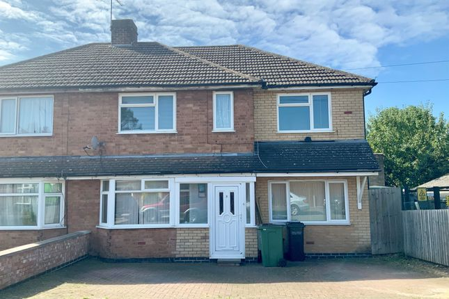Thumbnail Semi-detached house for sale in Fairfield Road, Oadby, Leicester