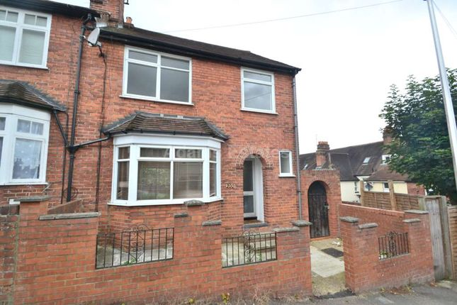 Thumbnail End terrace house for sale in Cranbury Road, Reading, Berkshire