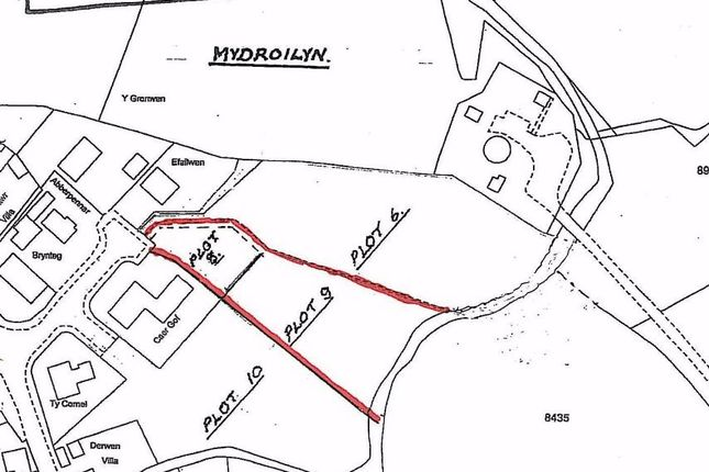 Thumbnail Land for sale in Land At Cae'r Gof, Mydroilyn, Nr Aberaeron, Ceredigion