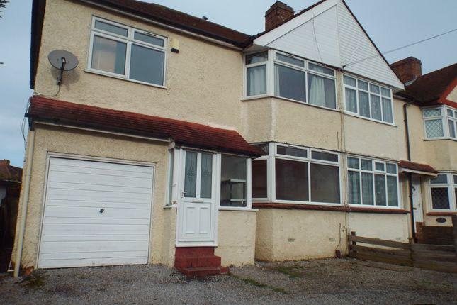 Thumbnail Semi-detached house to rent in Elmgate Avenue, Feltham