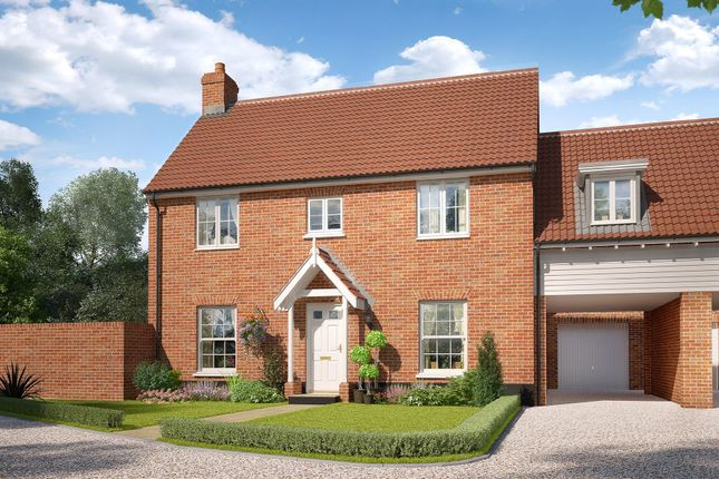 Thumbnail Link-detached house for sale in The Street, Gazeley, Newmarket