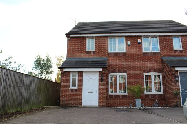 Thumbnail Semi-detached house for sale in Market Garden Close, Thurmaston, Leicester