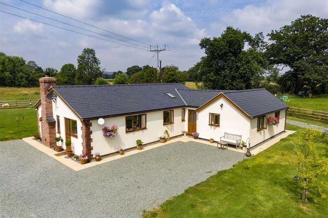 Thumbnail Detached bungalow for sale in Trederwen Lane, Arddleen, Llanymynech
