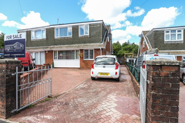 Thumbnail Semi-detached house for sale in Salisbury Close, Heolgerrig, Merthyr Tydfil
