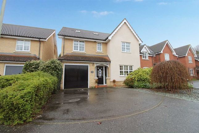 Thumbnail Detached house for sale in Wren Close, Stowmarket