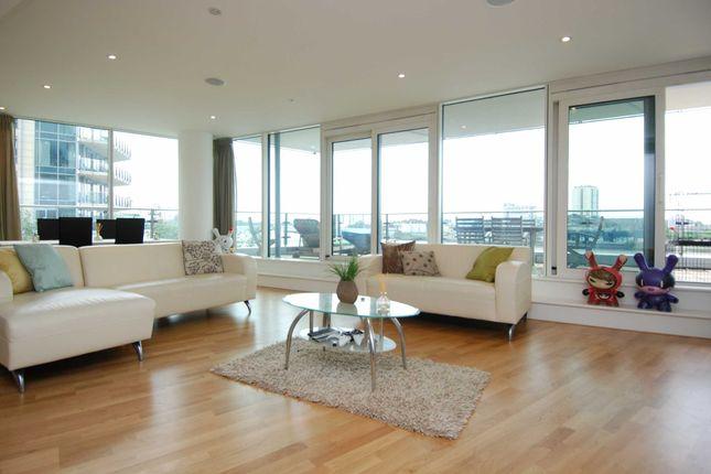Thumbnail Flat to rent in Ensign House, Juniper Drive, Battersea Reach, Battersea