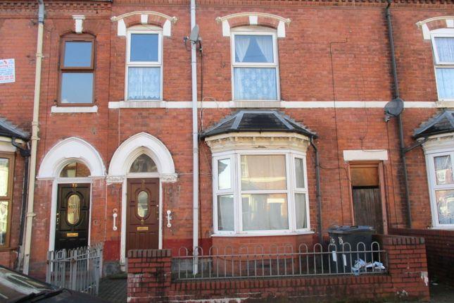Thumbnail Terraced house to rent in Hampton Road, Aston