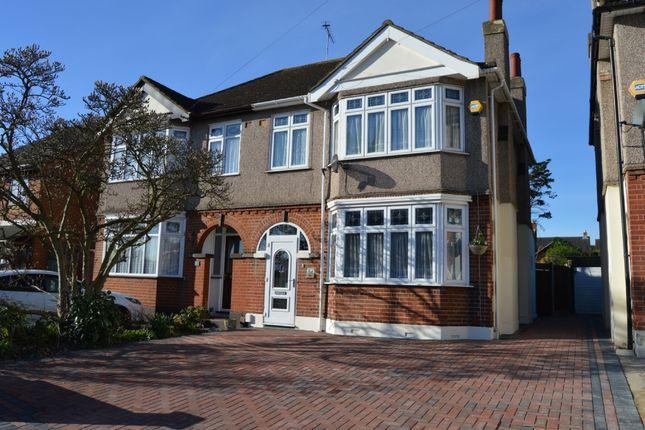Thumbnail Semi-detached house to rent in Gubbins Lane, Harold Wood, Romford