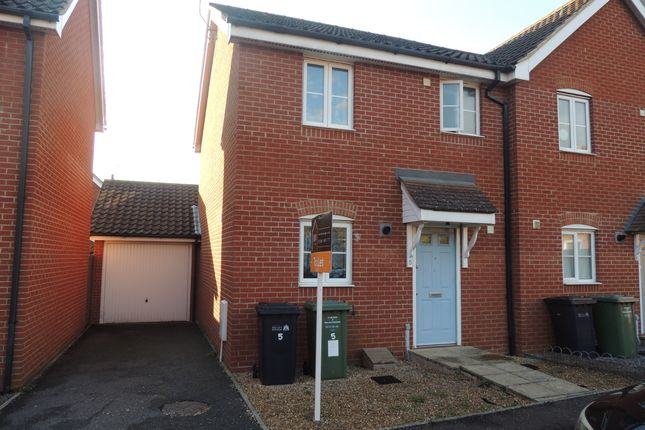 Thumbnail Semi-detached house to rent in Bulrush Avenue, Downham Market