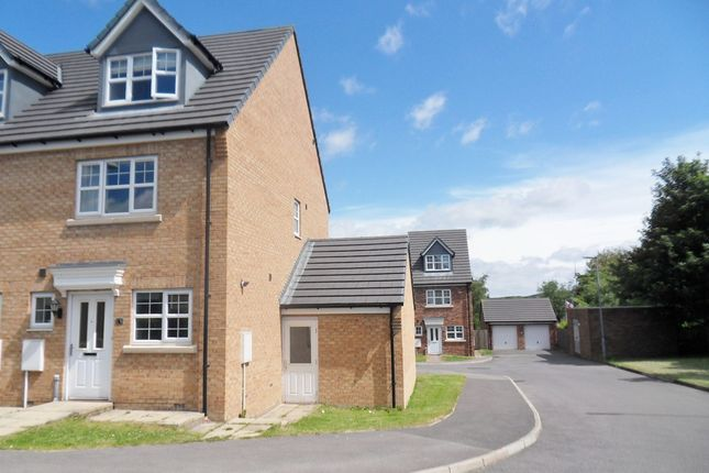 Thumbnail Semi-detached house for sale in Brackenrigg, Leadgate, Consett