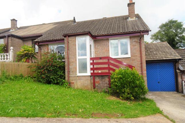 Thumbnail Semi-detached bungalow to rent in Pendray Gardens, Dobwalls, Liskeard