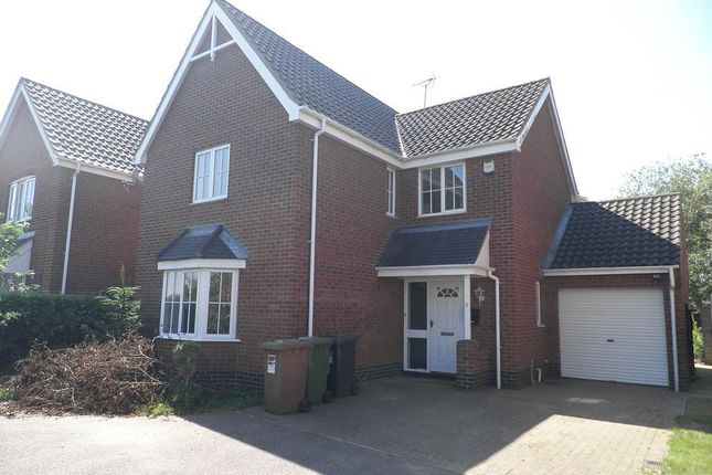 Thumbnail Detached house to rent in Wright's Close, North Walsham