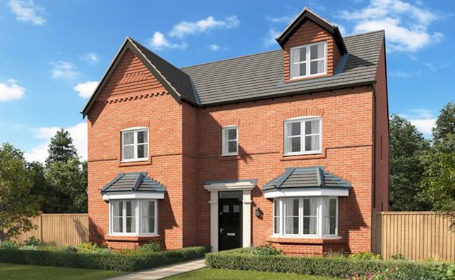 Thumbnail Detached house for sale in The Stratford, Hinckley Road, Stoke Golding, West Midlands