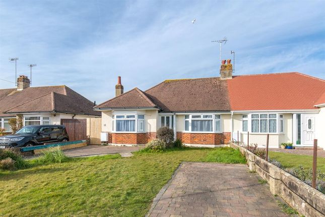 Thumbnail Semi-detached bungalow for sale in Burnham Road, Worthing, West Sussex