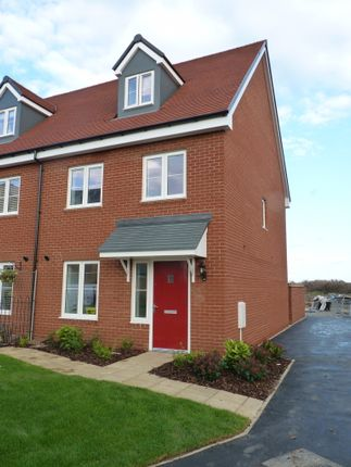 Thumbnail Semi-detached house to rent in Spartlet Mews, Berryfields, Aylesbury, Buckinghamshire