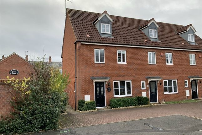 Thumbnail End terrace house for sale in Fretter Close, Broughton Astley, Leicester