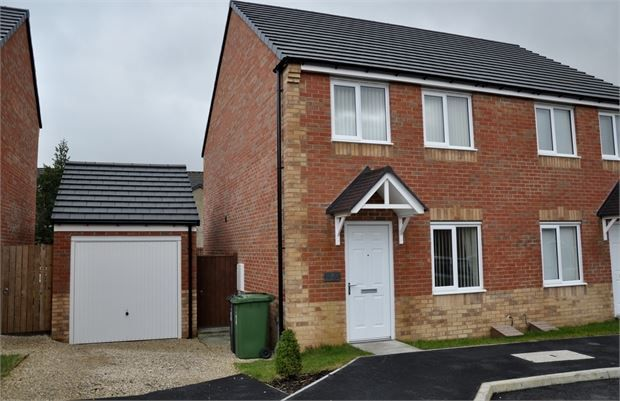 Thumbnail Semi-detached house for sale in Gibson Close, Haltwhistle, Northumberland.