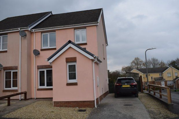 Thumbnail Semi-detached house to rent in Parc Gwernen, Ammanford